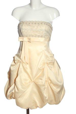 Apart schulterfreies Kleid creme Elegant