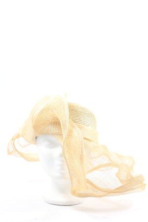 Apart Sombrero de ala ancha amarillo pálido look casual