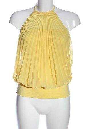 Apart Top z cienkimi ramiączkami bladożółty Styl klasyczny