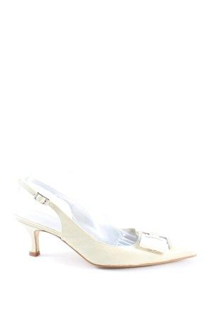Apart Czółenka ze spiczastym noskiem biały W stylu casual