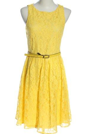 Apart Koronkowa sukienka bladożółty W stylu casual