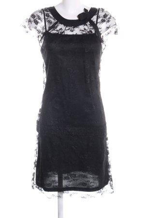 Apart Spitzenkleid schwarz Blumenmuster Elegant