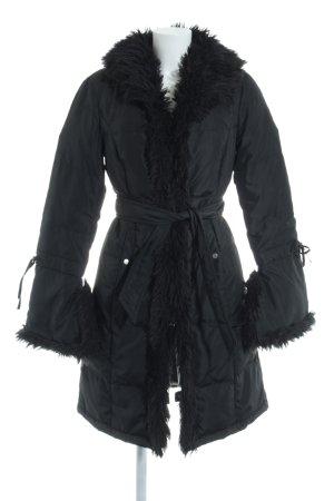 Apart Abrigo acolchado negro estampado acolchado estilo clásico