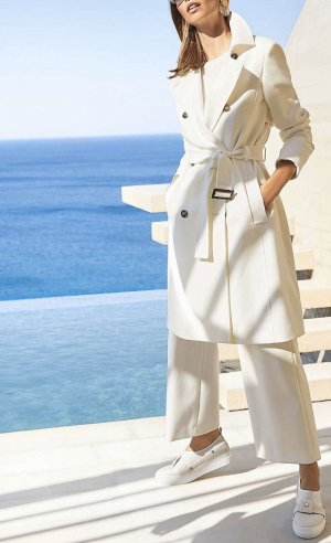 Apart Fashion Short Coat natural white