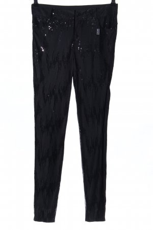 Apart Jersey Pants black abstract pattern extravagant style