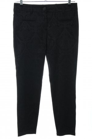 Apart Stoffhose schwarz grafisches Muster Casual-Look