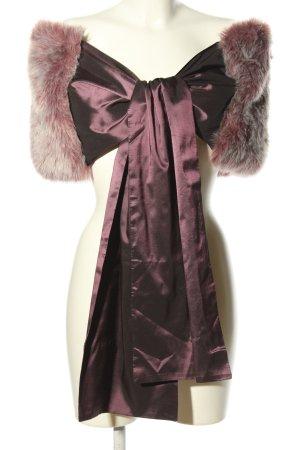 Apart Étole blanc cassé-violet élégant
