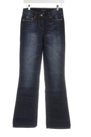 Apart Jeansy z prostymi nogawkami ciemnoniebieski-złotopomarańczowy