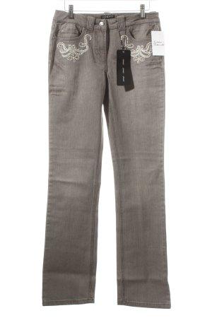 Apart Jeansy z prostymi nogawkami szary Wygląd w stylu miejskim