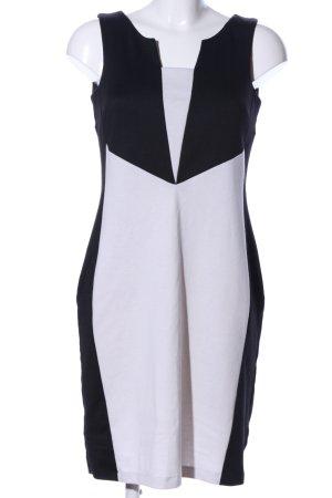 Apart Vestido elástico negro-gris claro estilo «business»