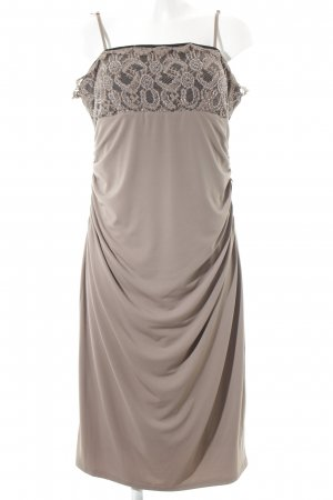 Apart Stretch Dress grey brown classic style