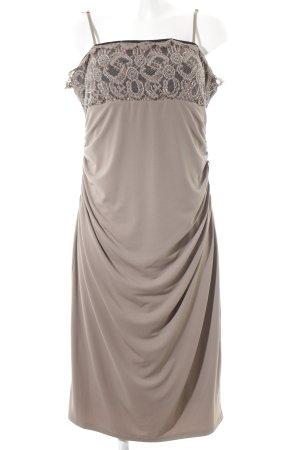 Apart Vestido elástico marrón grisáceo estilo clásico