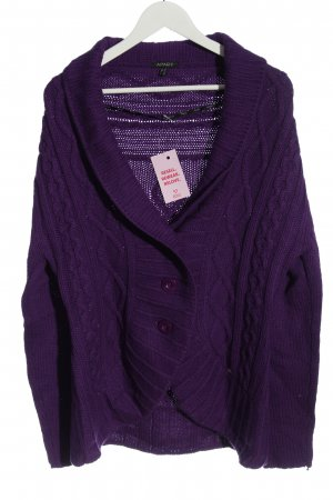Apart Knitted Cardigan lilac casual look