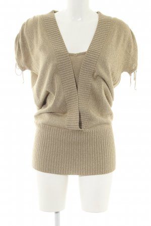 Apart Knitted Twin Set gold-colored casual look