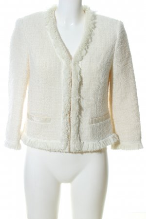 Apart Knitted Blazer natural white weave pattern business style