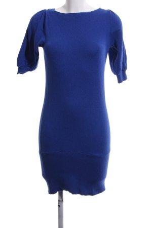 Apart Strickkleid blau Business-Look