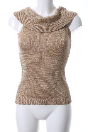Apart Haut tricotés bronze style décontracté