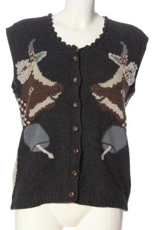 Apart Gebreid vest prints met een thema casual uitstraling