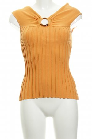 Apart Knitted Top gold orange cotton