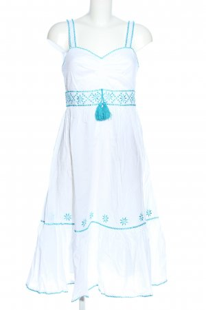 Apart Trägerkleid weiß-blau Elegant