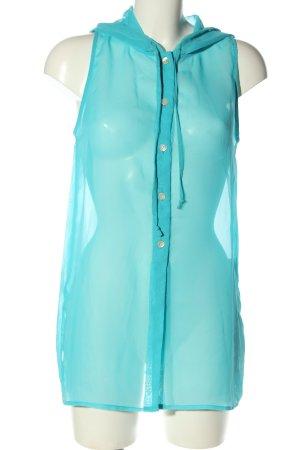 Apart Blusa trasparente turchese stile casual