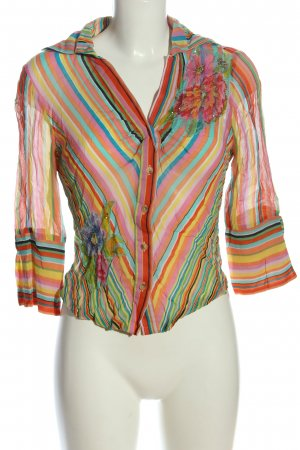 Apart Transparenz-Bluse Allover-Druck Casual-Look