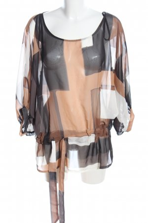Apart Transparent Blouse abstract pattern casual look