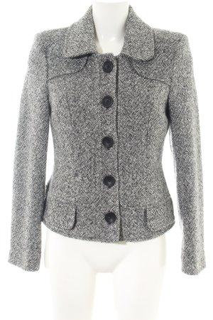 Apart Tweed blazer lichtgrijs gestippeld zakelijke stijl