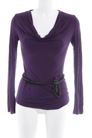 Apart U-Boot-Shirt lila Casual-Look