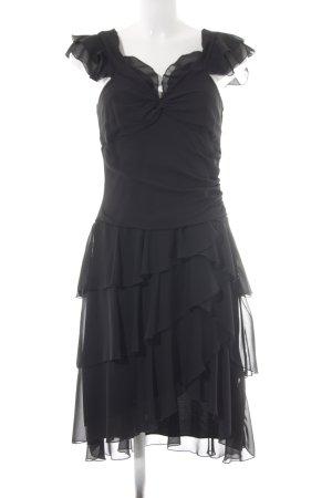 Apart Volantkleid schwarz Elegant