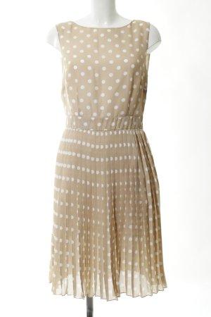 Apart Flounce Dress natural white-white spot pattern business style