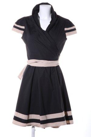 Apart Robe portefeuille noir-blanc cassé motif rayé style décontracté