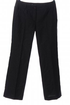 Apart Woolen Trousers black-white striped pattern business style