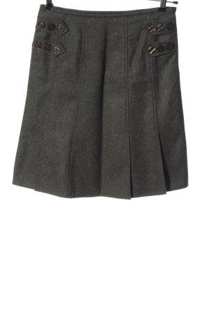 Apart Jupe en laine gris clair moucheté style décontracté