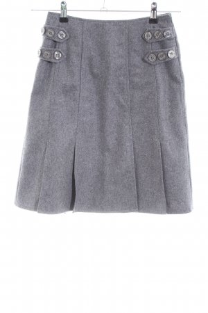 Apart Wool Skirt light grey flecked casual look