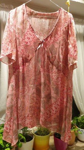 APARTE Bluse Gr. 48 rosa pink PAISLEY luftig und bequem QUALITÄT asymmetrischer Abschluss TRANSPARENT