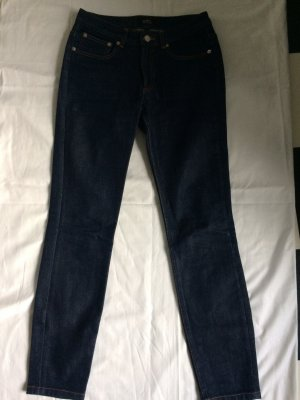 A.P.C. Hoge taille jeans donkerblauw Katoen