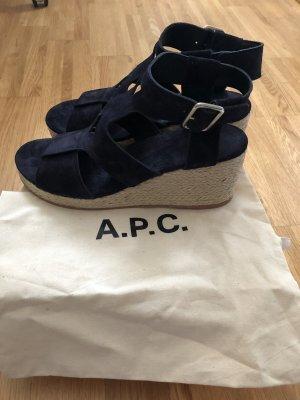 A.P.C. Espadrille bleu foncé cuir