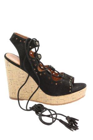 Apepazza High Heel Sandaletten schwarz-creme extravaganter Stil
