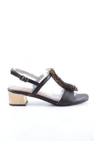 Apepazza Sandalo con tacco alto e lacci a T nero stile casual