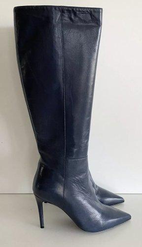 APERLAI Paris Stiefel Gr. 37.5 blau Leder