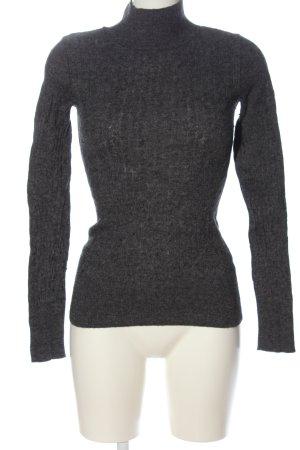Aphorism Turtleneck Sweater light grey flecked casual look