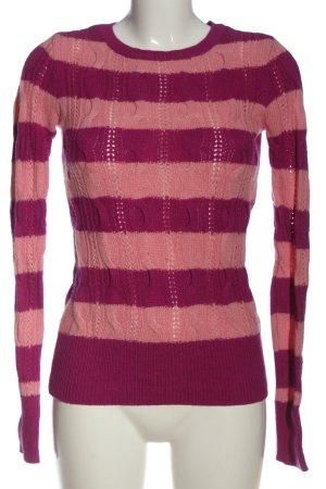 Aphorism Crewneck Sweater pink-nude striped pattern casual look