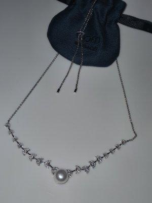 apm Monaco Naszyjnik srebrny-w kolorze białej wełny