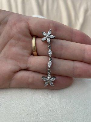 Apm Monaco asymmetrischer Ohrring 925 Silber Zirkonia Flowers