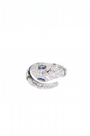 apm Monaco Silberring silberfarben-blau Casual-Look