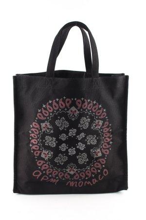 apm Monaco Stoffen tas zwart prints met een thema casual uitstraling
