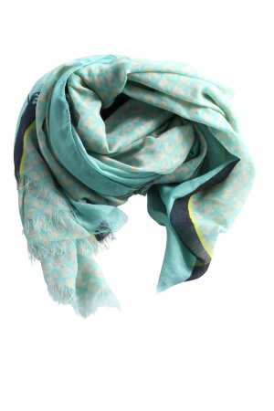 appetizer Summer Scarf turquoise-light grey abstract pattern casual look