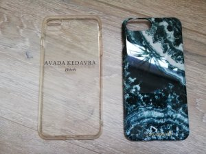 Mobile Phone Case cadet blue-white synthetic material
