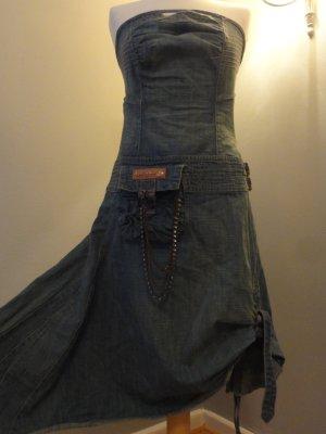 Off-The-Shoulder Dress azure cotton